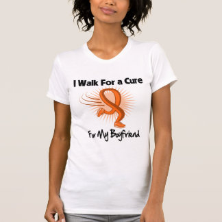 I Walk For My Boyfriend - Leukemia Tee Shirt