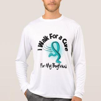 I Walk For My Boyfriend - Teal Ribbon Tee Shirt