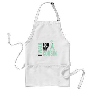 I Walk for my Cousin teal Standard Apron