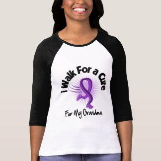 I Walk For My Grandma - Purple Ribbon T-shirt