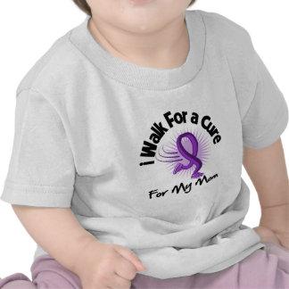 I Walk For My Mom - Purple Ribbon Tshirts