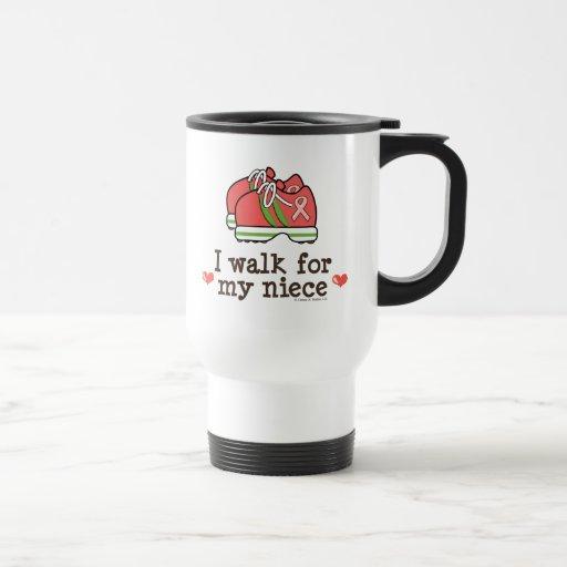 I Walk For My Niece Breast Cancer Walk Travel Mug