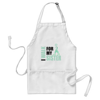 I Walk for my Sister teal Standard Apron