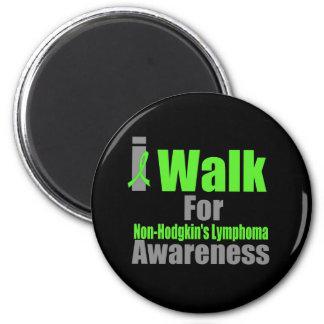 I Walk For Non-Hodgkin's Lymphoma Awareness 6 Cm Round Magnet