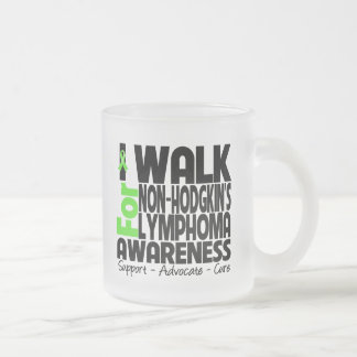 I Walk For Non-Hodgkin's Lymphoma Awareness Frosted Glass Mug