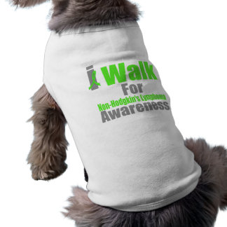 I Walk For Non-Hodgkin's Lymphoma Awareness Sleeveless Dog Shirt