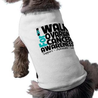 I Walk For Ovarian Cancer Awareness Sleeveless Dog Shirt