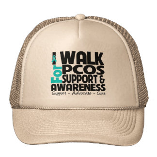 I Walk For PCOS Awareness Hats