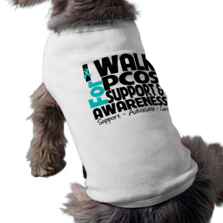 I Walk For PCOS Awareness Sleeveless Dog Shirt