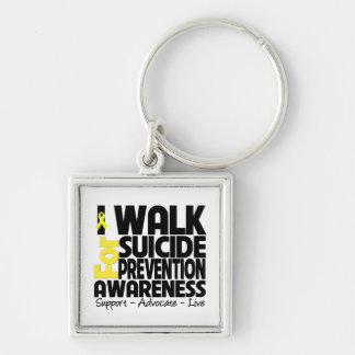 I Walk For Suicide Prevention Awareness Keychain