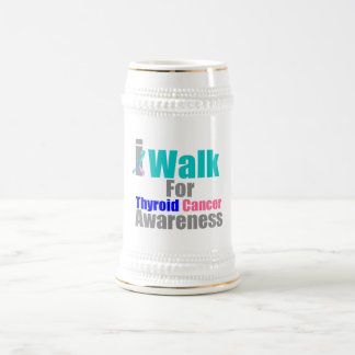 I Walk For Thyroid Cancer Awareness Beer Steins