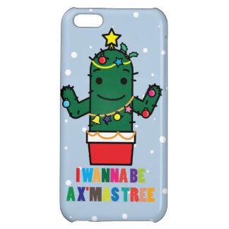 I Wanna be a X mas Tree Cactus Funny iPhone 5 Case