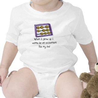 I wanna be an Accountant like Dad baby t-shirt
