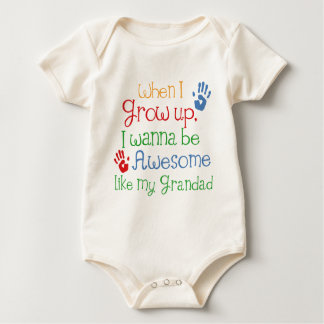 I Wanna Be Awesome Like My Grandad Baby Bodysuit