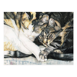 """I Wanna Hold your Paw"" Cat Art Postcard"