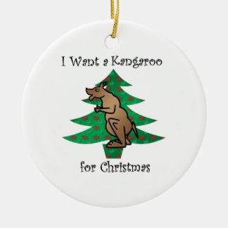 I want a kangaroo for christmas christmas ornament
