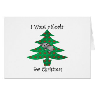 I want a koala for christmas card