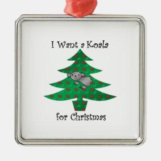 I want a koala for christmas christmas ornament