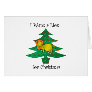 I want a lion for christmas card