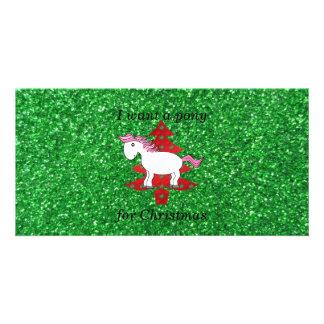 I want a pony for christmas photo card