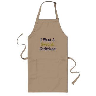 I Want A Swedish Girlfriend Long Apron