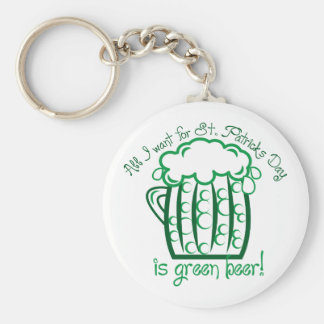I Want Beer Basic Round Button Key Ring
