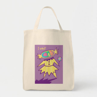 I Want Candy Sweet Tooth Tote Grocery Tote Bag