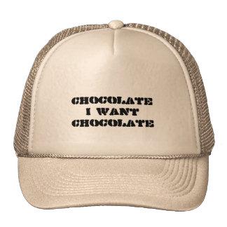 I want Chocolate Hats