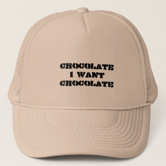 I want Chocolate Trucker Hat