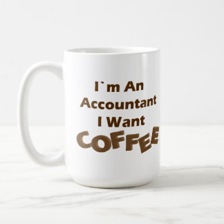 I Want Coffee Basic White Mug