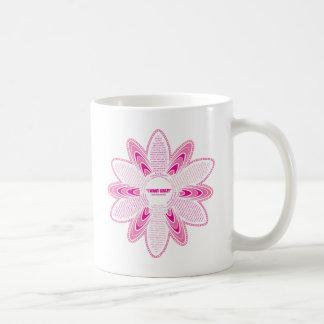 I want crazy, Pink Daisy Basic White Mug