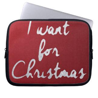 I want for Christmas ...... funda_10 Laptop Sleeve