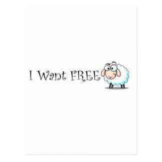 I Want Free Postcard