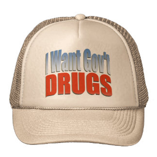 I Want Govt DRUGS RED Cap
