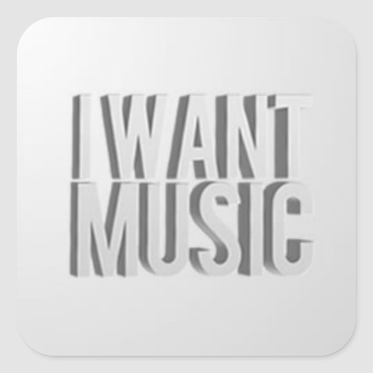 I Want Music Stickers