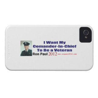 I Want My Commander In Chief To Be A Veteran iPhone 4 Covers