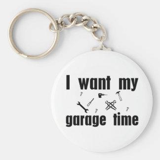 I want my garage time basic round button key ring