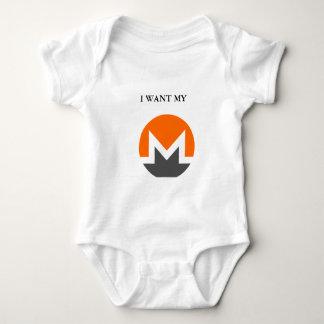 I want my Monero Baby Jersey Body Suit Baby Bodysuit