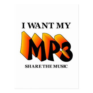 I Want My MP3 Postcards