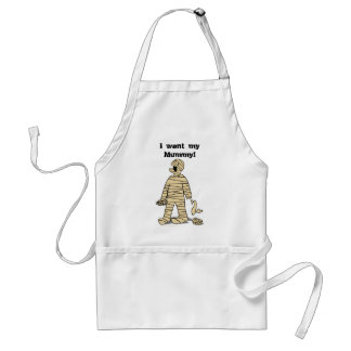 I Want My Mummy Funny Mummy Halloween Adult Apron