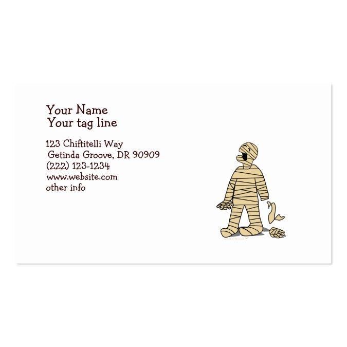 I Want My Mummy Funny Mummy Halloween Business Card Template