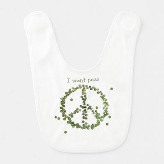 I want peas bib