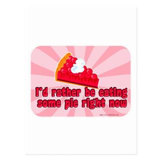 I want pie! postcard
