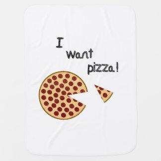I want pizza baby blanket