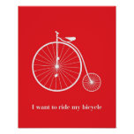 I want ride my bicycle pôsteres