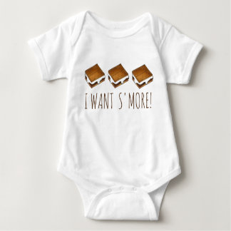 I Want S'more Campfire S'mores Camping Baby Suit Baby Bodysuit