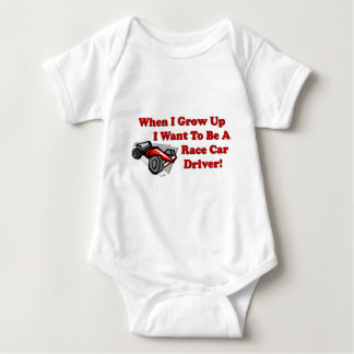 I Want to be A Race Car Driver Baby Bodysuit