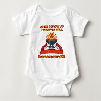 I want to be a race car driver! baby bodysuit
