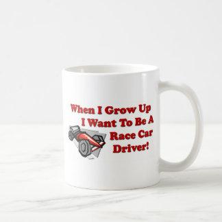 I Want to be A Race Car Driver Coffee Mug