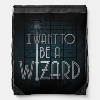 I Want To Be A Wizard Drawstring Bag